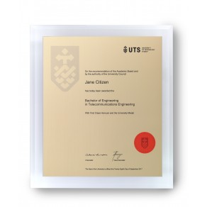 UTS Gold on Clear Arcrylic Large Plaque