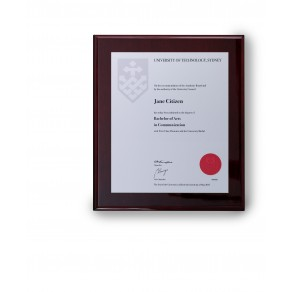 UTS Silver on Rosewood Small Plaque