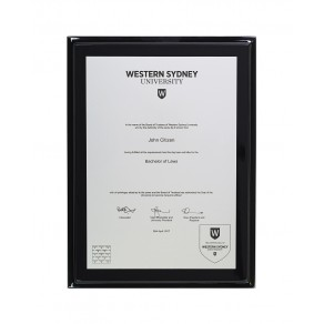 WSU A4 Engraved, Silver Black