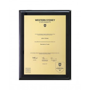 WSU A4 Engraved, Gold Black