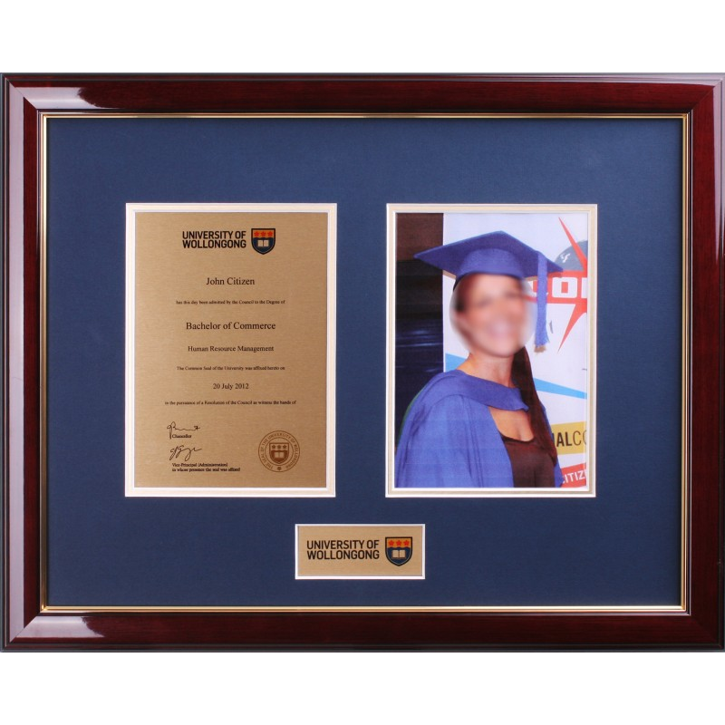Degree Plaque Double Frame - Elegance UOW