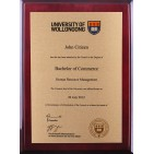 Rosewood Gold Plaque UOW