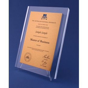 Perspex Gold Plaque